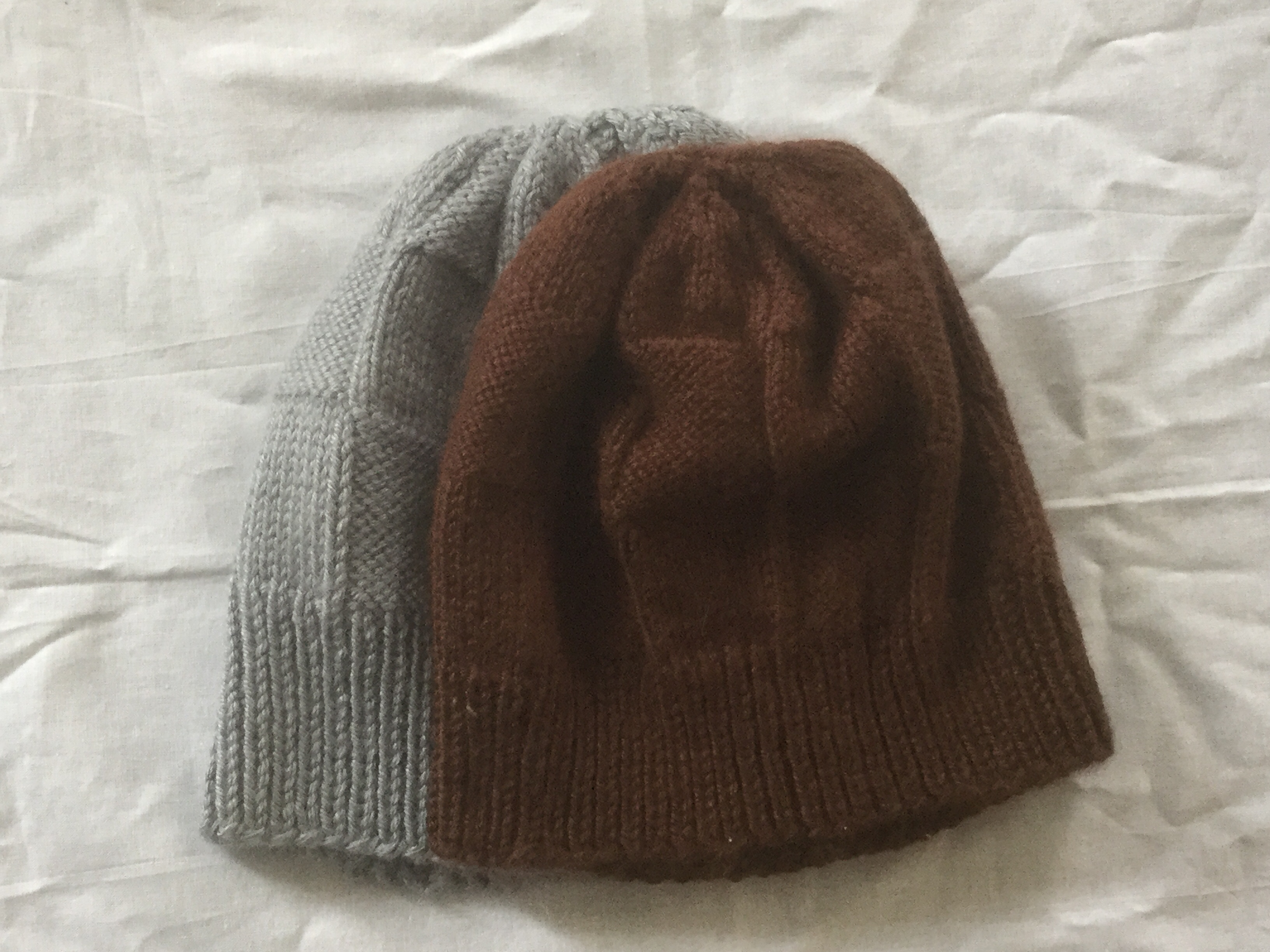 Adult Checkerboard Beanies, sizes Median and Ultra.
