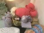 Knitted stuffed toys; Bunnies